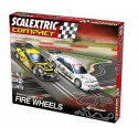 Scalextric Circuito Compact Fire Wheels 1/43